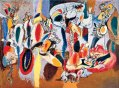 The Liver is the Cock's Comb (1944), by Arshile Gorky--Copyright © 1999 Estate of Arshile Gorky / Artists Rights Society (ARS), New York--This low resolution image is used in an article about the artist and his work, and is credited as a piece of art. There is no known free alternative available, as it is a unique artwork.