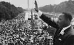 king waving at march on washington