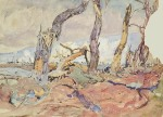 shell-torn trees-1919-varley