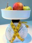 weighing fruit