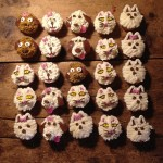 grounded coffee dog and cat cupcakes
